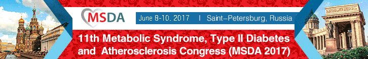 10 June 2017 - MSDA 2017 - 12th Metabolic Syndrome, type II Diabetes and Atherosclerosis Congress